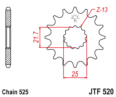 JT Steel Front Sprocket 520 // 15T for 01-07 BMW F650GS