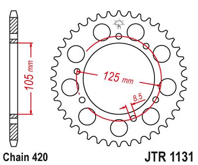 Rear sprocket 48 tooth JT steel Aprilia SX 50 06-11 NEW JTR1131.48