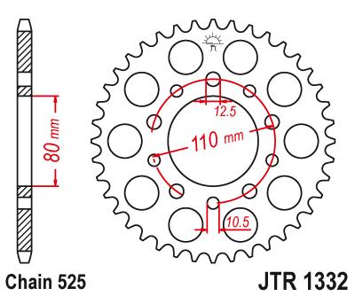 JT 530 Pitch 43 Tooth Rear Sprocket JTR1306.43 For Honda CBR929RR RC51 RVT1000R