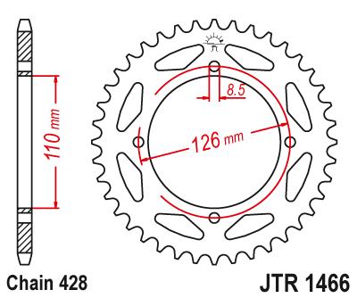 JT Pignon 41 dents Division 530//jtr476.41 JT Sprockets
