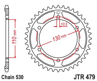 JT Pignon 47 dents Division 520//jtr845.47 JT Sprockets
