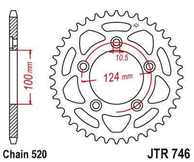 JT Sprockets JTR702.45 Steel Rear Sprocket