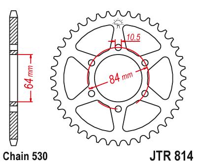 JT 1982-1988 Suzuki GN250 REAR STEEL SPROCKET 41T JTR819//2.41