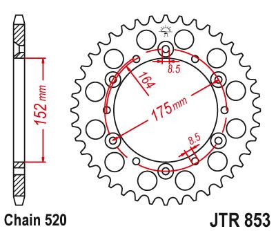 JT Sprockets JTR486.43 43T Steel Rear Sprocket