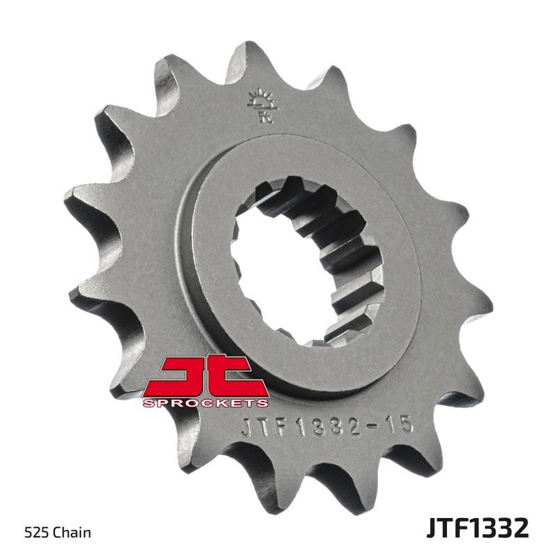 JT Sprockets JTF1332.15RB Rubber Cushioned Front Countershaft Sprocket
