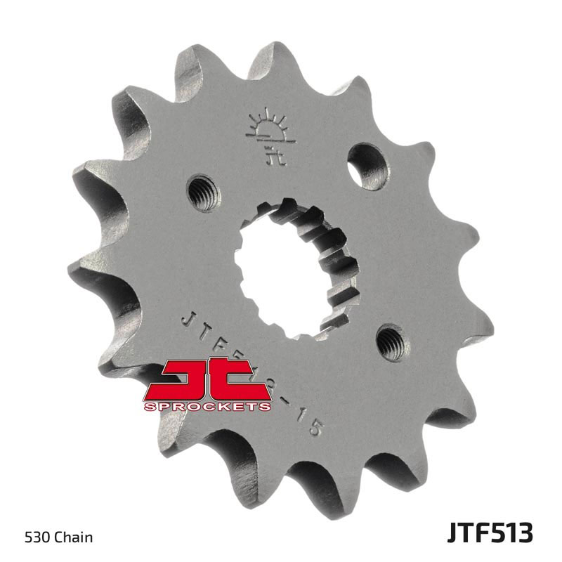 #JTF513.16 Gray Sold Each 16 Tooth//Teeth JT Sprockets Steel Sprocket; Front